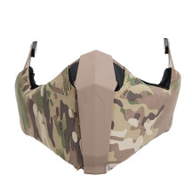 FMA Outdoor Activity Airsoft Breathability Mandible Half Face Mask for Helmet Rail - Camouflage