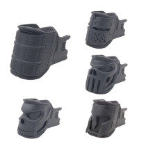 Nylon Magazine Grip One Set of Four Forms for JM Gen.8 M-4A1 Gel Ball Blaster - Black