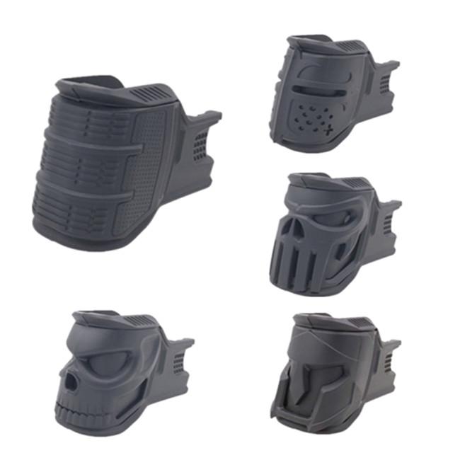 Nylon Magazine Grip One Set of Four Forms for JM Gen.8 M-4A1 Gel Ball Blaster - Black