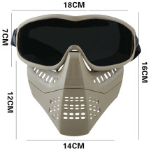 WST Outdoor Tactics Ant Type Mask Face Guard Protective Mask for Women and Children Head Size + BK Eyeglass