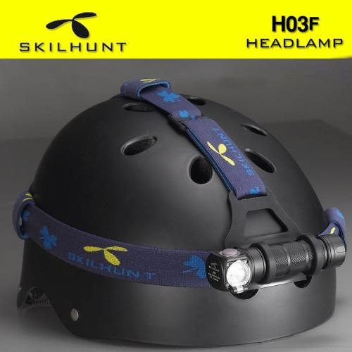 SKILHUNT Adjustable Helmet Flashlight Headband with Headlamp Mount
