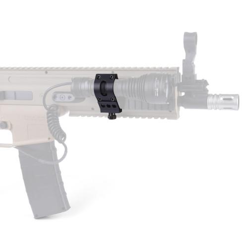 Tactical Flashlight Mount Holder Clip for 20mm Rail / 24.4mm Diameter Flashlight