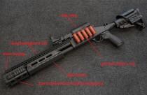 FREESHIPPING Appearance  Upgraded Kit for M97 Toy Gel Blaster Shotgun