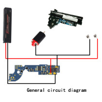 T238 Programmable MOSFET Electric Fire Control Unit Module for XWE G36 / JM 11AK Ⅲ Gearbox