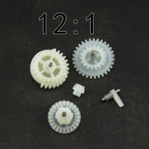 12:1 High Speed Nylon Gear Set for JM Gen.8 9 10 / Jingji SLR Gel Blaster - White