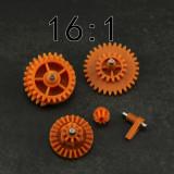 16:1 High Speed Nylon Gear Set for JM Gen.8 9 10 / Jingji SLR Gel Blaster - Orange