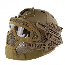 WST Steel Wire Protective FAST Helmet Suit for Outdoor Activity - Tan