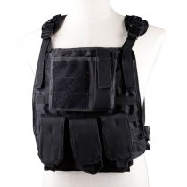 WST Molle Military Combat Vest Adjustable 600D Encryption Polyes  Vest - Black