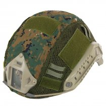 WST Updated Version Camouflage Helmet Cover for FAST Tactics Helmet