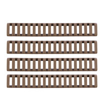 4Pcs Rubber Handguard Rails - Tan