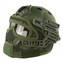 WST Steel Wire Protective FAST Helmet Suit for Outdoor Activity - Green