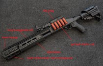 FREESHIPPING Appearance  Upgraded Kit for M97 Toy Gel Blaster Shotgun