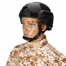 MICH2001 Outdoor Tactical Helmet Protective Anti-riot Lightweight Helmet - Black