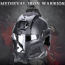 WST Medieval Iron Knight Tactics Helmet for Outdoor Activity