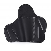 Adjustable Angle Cattlehide Pistol Sleeve Soft Elastic Holster - Black