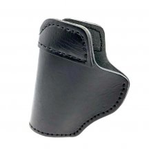 Cattlehide Pistol Sleeve Soft Elastic Holster - Black