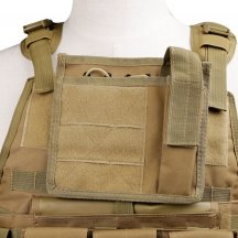 WST Molle Military Combat Vest Adjustable 600D Encryption Polyes Airsoft Paintball Vest - Tan
