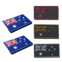Australia Flag Hook Patch - White Edge