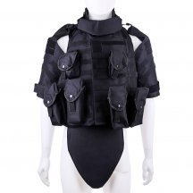 Wolf Slaves Interceptor Modular OTV Body Armor Tactics Vest - Black