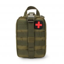 Military Tactical MOLLE Battlefield Medical Bag Rescue Pack - Olive Drab