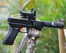 SKD Glock Metal Inner Barrel+Punisher Suppressor