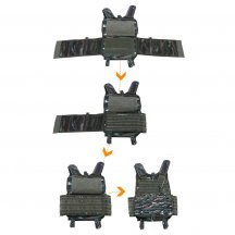 15Pcs Tactical Vest Training Vest CPC Light Weight Portable Quick Release Military Vest (Without Plate) - Tabby Camouflage