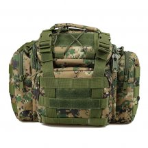 600D Oxford Cloth Waterproof Tactics Waist Bag Camera Pack Gadget Bag - Jungle Digital