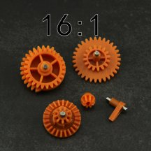 16:1 High Speed Nylon Gear Set for JM Gen.8 9 10 / Jingji SLR Gel Blaster - Orange