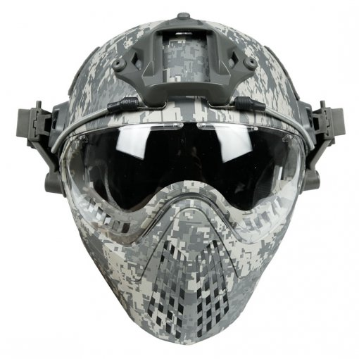 WST Navigator Tactics Camouflage Protecting Helmet for Outdoors Activities - ACU Type L