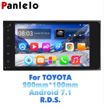 Panlelo S11 For Toyota 2 Din Android Car Stereo 7  1080P Autoradio Quad Core 2 din Android Head Unit GPS Navigation 200*100 Radio