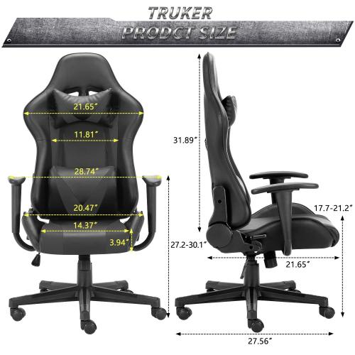 Gaming Chair Computer Desk Racing