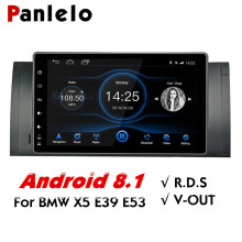 Panlelo For BMW X5 E53 Android 8.1 GPS Navigation 2 Din Android 9 Inch Full Touch Screen Quad Core IPS Screen Multimedia Player