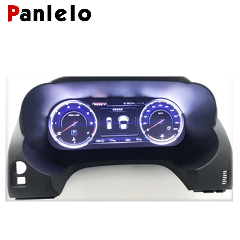 Panlelo Instrument Panel Replacement Dashboard 12.3 inch Navigator with Full Liquid Crystal Instrument for Toyota Prado Wifi SWC