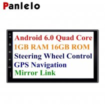 Panlelo® PA09, 7 Inch 2 Din Head Unit Android 6.0 GPS Navigation Car Stereo Audio Radio 1080P Video Player ARMv7 Quad Core Built in Wi-Fi Bluetooth AM/FM/RDS Steering Wheel Control (no dvd player)