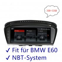 Fit for BMW E60 E61 E62 NBT System Android 8.8 Inch Quad Core Navigation Player