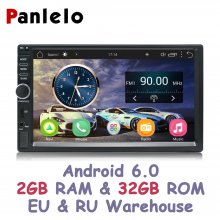 Panlelo S1 Plus 2 DIN Android Car Stereo 2GB RAM 32GB ROM Car GPS Navigation Auto Radio AM/FM 7 inch Touch Screen Bluetooth Cam