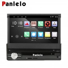 Car Stereo, T1 Single DIN GPS Navigation Android 6.0 Quad Core RAM 1G ROM 16G Touch Screen Head Unit Folding Monitor Auto Radio Audio Built-in AM/FM BT WiFi Steering Wheel Control In-Dash Navi