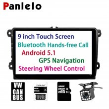 PA-VW90, For Volkswagen 9 inch HD Touch Screen Head Unit Android 5.1 GPS Navigation Car Stereo Radio Built in Bluetooth FM WIFI For Bora Jetta Tiguan Golf Polo