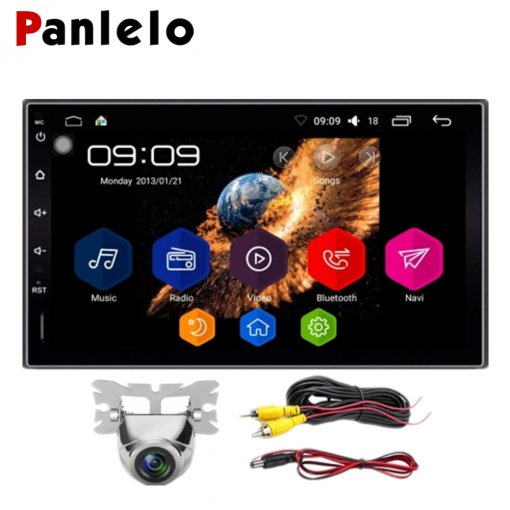 KX09CA Android 6.0 Car Stereo Quad Core 2 Din 7 Inch HD Touch Screen Auto Radio AM/FM/RDS 1.2GHz 1GB RAM 16GB ROM Rear View Camera Head Unit BT Steering Wheel Control GPS Navigation