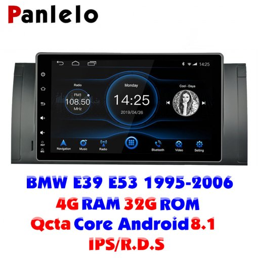 Panlelo Android 8.1 Auto Stereo Für BMW X5 E53 E39 Octa Core 4G RAM 32G ROM IPS Touchscreen 9 Inch Kopf Einheit Auto Multiplayer
