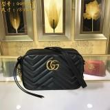 GUCCI GG Marmont velvet small shoulder bag