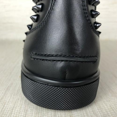 Chirstian Loubotin black leathe Louis Spikes