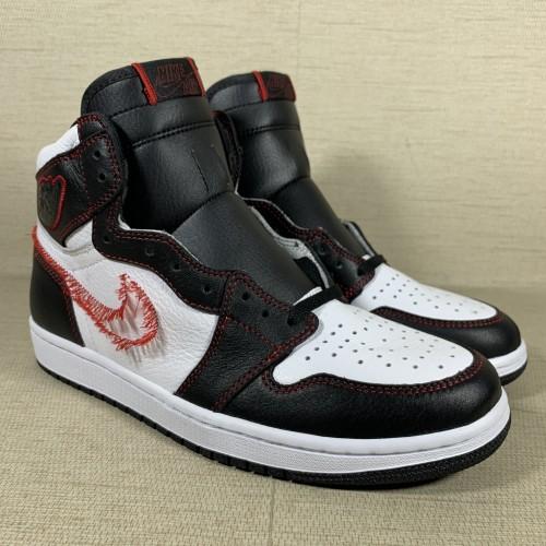 Jordan 1 Retro High Defiant White Black Gym Red CD6579071