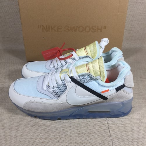 Unbox off-white x nike air max 90 ice 10x AA7293-100