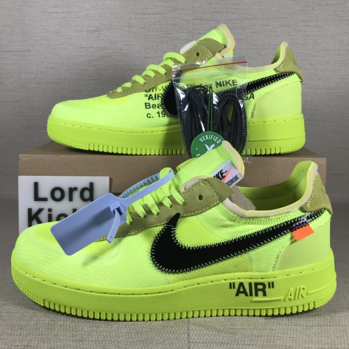 OFF-WHITE x NIKE AIR FORCE 1  GHOSTING 3.0  VOLT AO4606-700