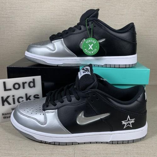 Nike SB Dunk Low Supreme Jewel Swoosh Silver CK3480001