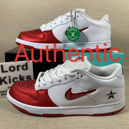 Supreme Nike SB Dunk Low Red White CK3480600