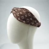 Inspired Printed Letter Satin Silk Headband