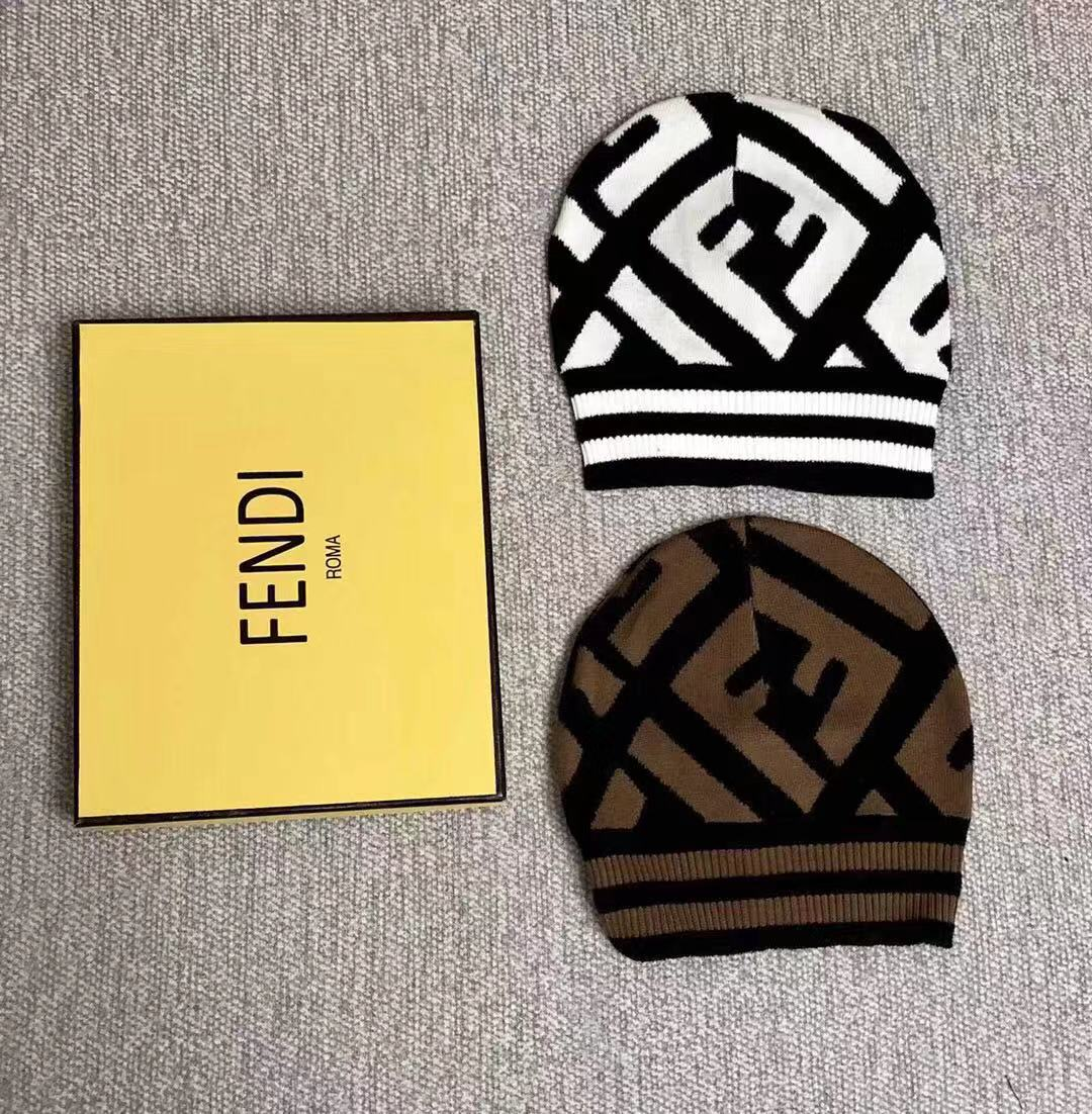 FF Knitted Beanie Hat
