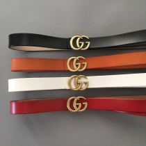 leather gg belts 2.8cm 3.3cm